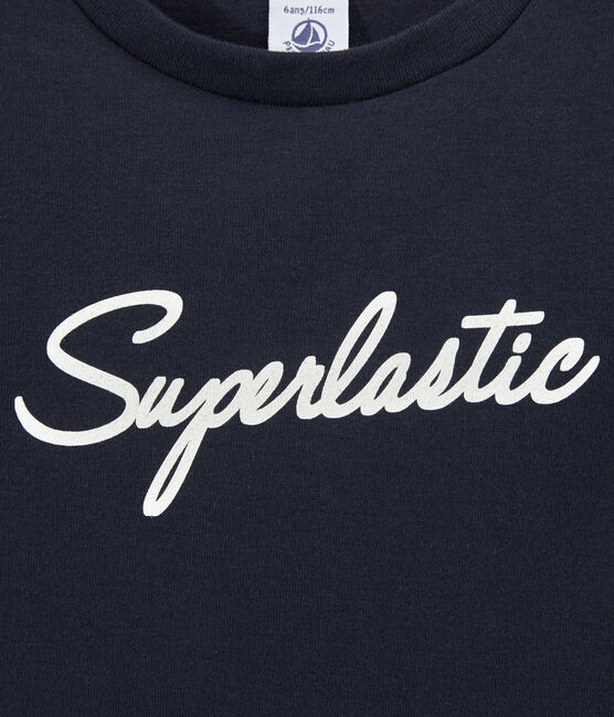 Boys' T-shirt with motif Smoking blue