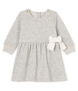 Baby Girls' Long-Sleeved Velour Knit Dress