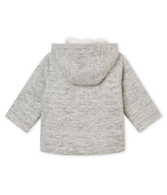 Baby boy's cotton sweatshirt pea coat Gris grey