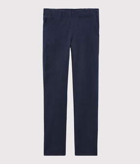 Women's Knit Trousers Smoking blue