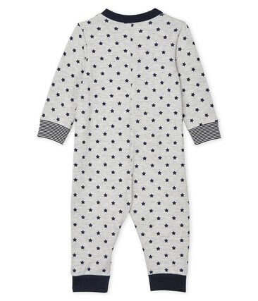 Baby Boys' Long Zipped Jumpsuit Beluga grey / Smoking blue