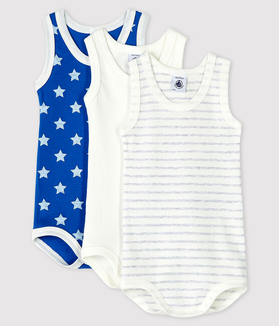 Baby Boys' Sleeveless Bodysuit - 3-Pack . set