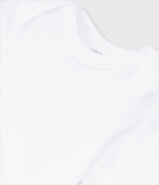 Babies' White Long-Sleeved Bodysuit Ecume white