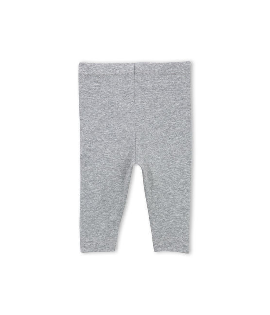 Baby girl plain leggings Subway grey