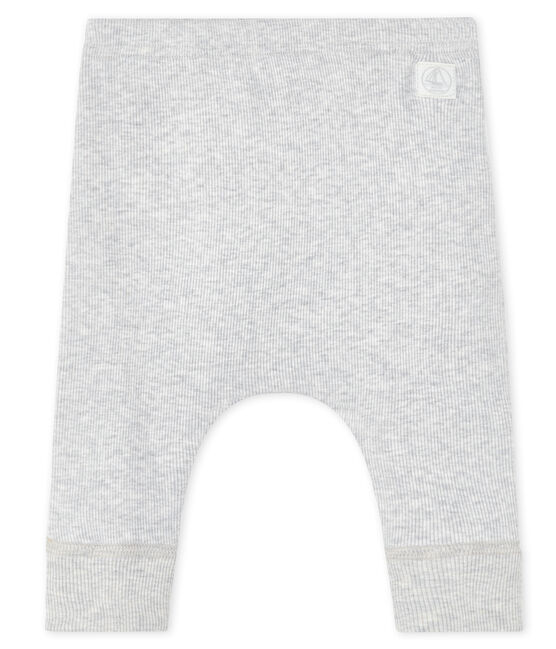 Baby leggings in cotton rib Beluga grey