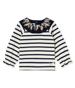 Baby Girls' New Look Sailor Top Coquille beige / Smoking blue