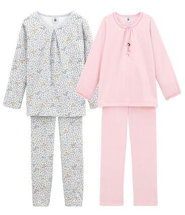 Girls' Warm Pyjamas - Set of 2