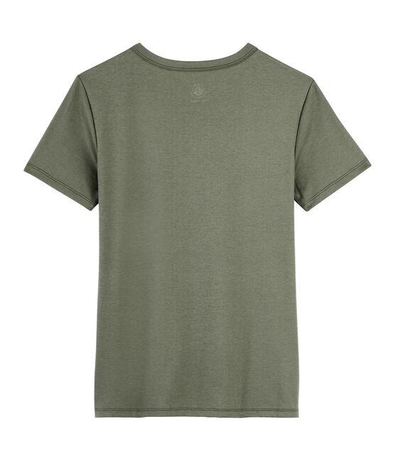 Women's Sea Island cotton T-shirt Litop green