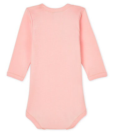Baby girls' long-sleeved bodysuit Minois pink