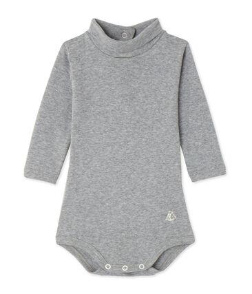 Baby roll neck bodysuit Subway Chine grey