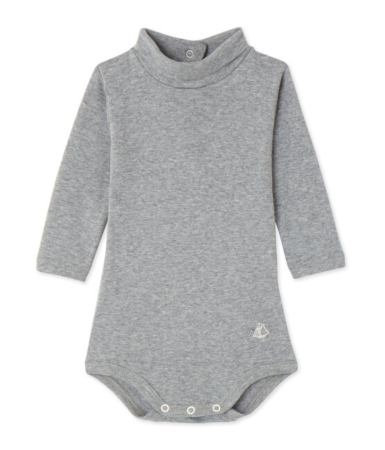 Baby roll neck bodysuit Subway Chine grey