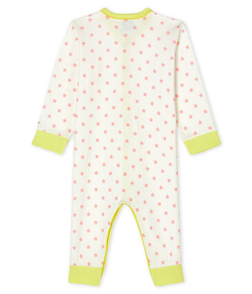 Baby Girls' Footless Sleepsuit Marshmallow white / Gretel pink