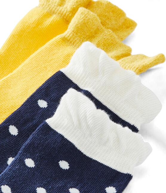 Pack of 2 Pairs of Girls' Socks . set