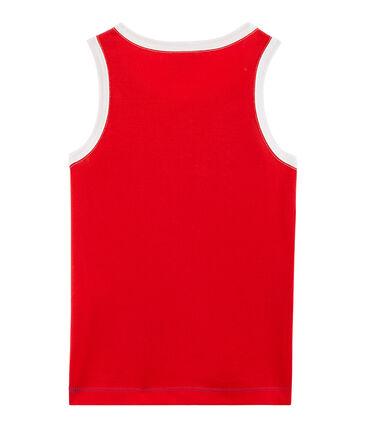 Boys' Vest Surf blue / Peps red