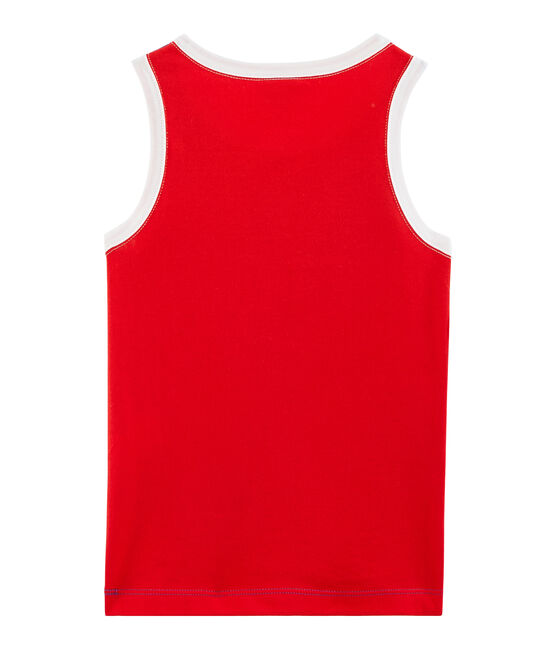 Boys' Vest Surf blue / Peps red