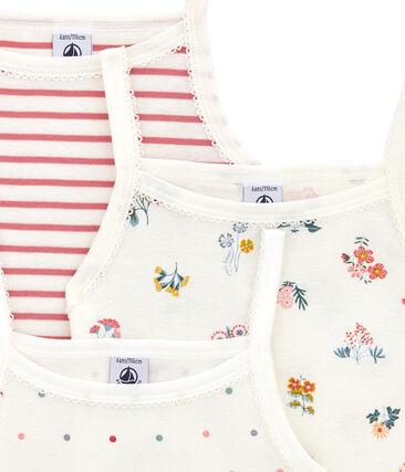 Little girl's strap vest trio