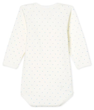 Baby Boys' Long-Sleeved Bodysuit Marshmallow white / Acier blue