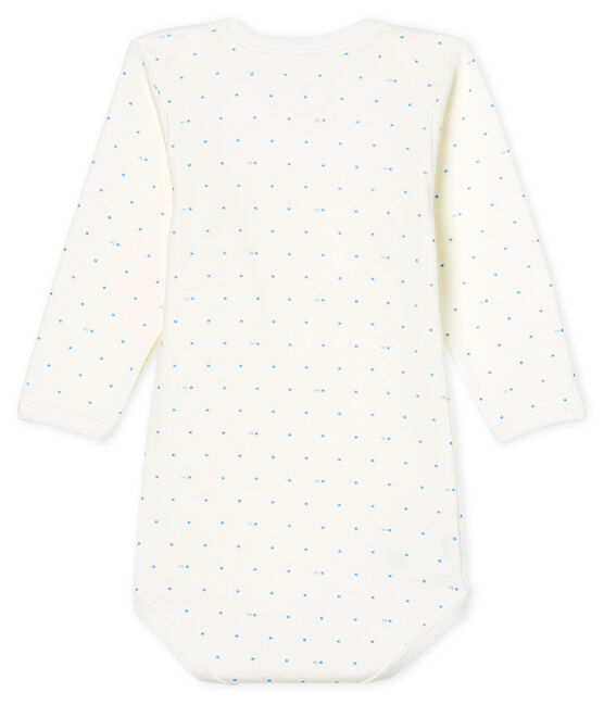 Baby Boys' Long-Sleeved Bodysuit Marshmallow white / Acier blue
