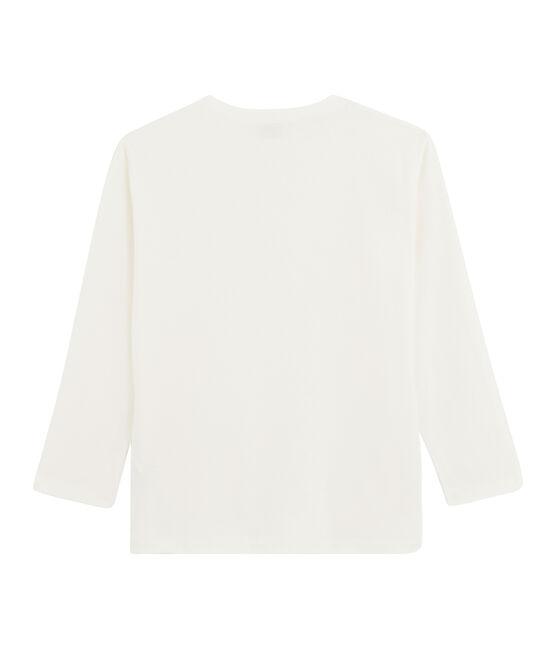 Boys' Long-Sleeved T-shirt Marshmallow white