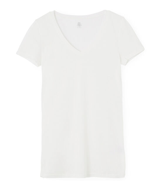 Women's Light Ribbed T-Shirt Marshmallow white