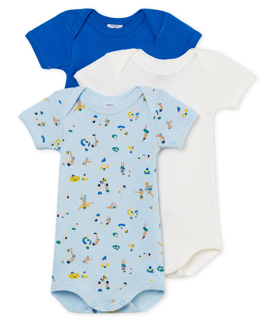 Baby Boys' Short-Sleeved Bodysuit - Set of 3 . set