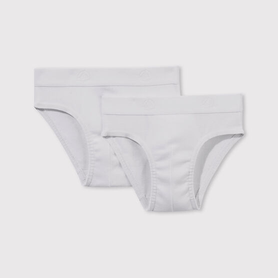 Set of 2 boys' white pants . set
