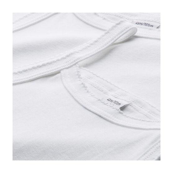 Girls' Plain White Strappy Tops - 2-Piece Set . set