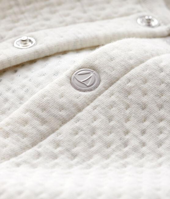 Baby girl's tubular knit cardigan Montelimar Chine grey