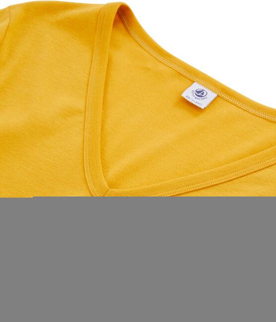 Women's Long-Sleeved Iconic T-Shirt Boudor yellow