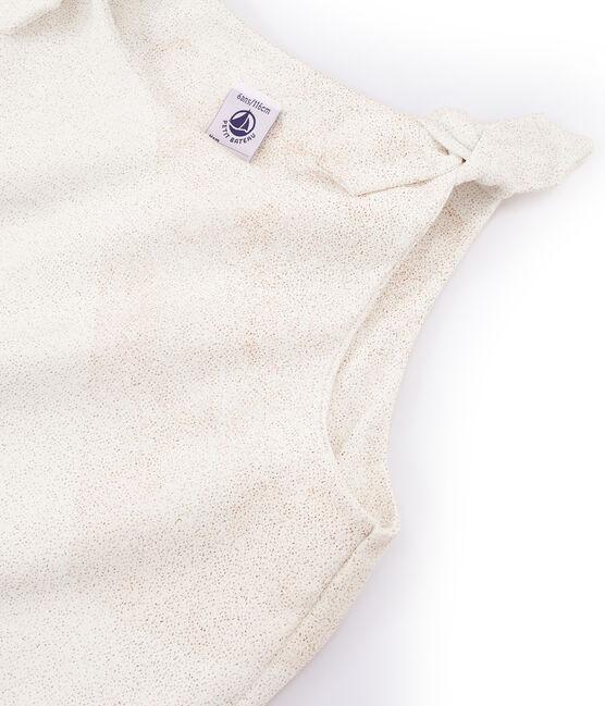 Girls' Sleeveless Top Marshmallow white / Copper pink