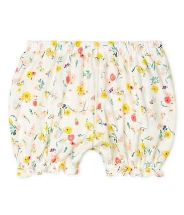 Baby Girls' Print Bloomers Marshmallow white / Multico white
