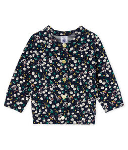 Baby Girls' Printed Tube Knit Cardigan