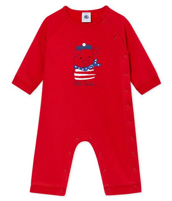 Unisex Babies' Fleece Bodysuit Terkuit red