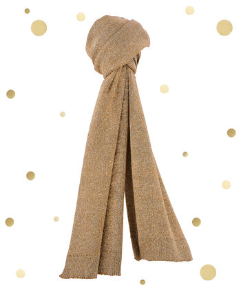 women's gold scarf