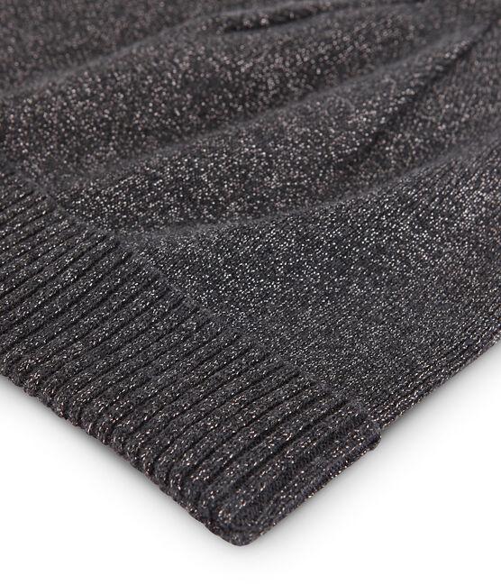 Women's Shiny Wool Hat City black / Argent grey