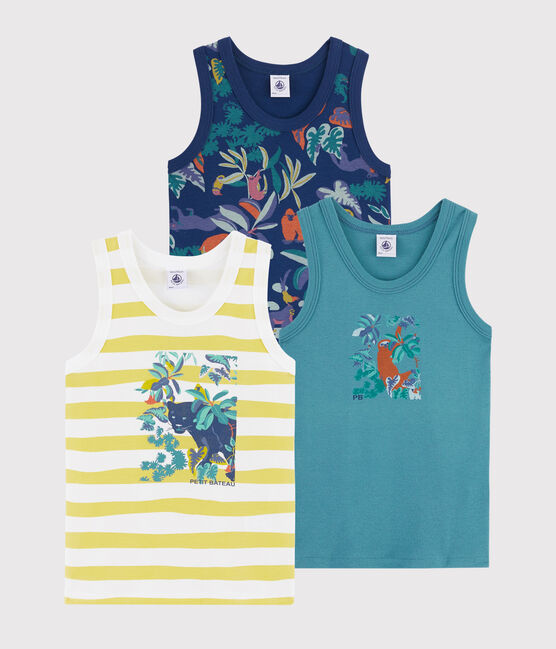 Boys' Jungle Print Vests - 3-Piece Set . set