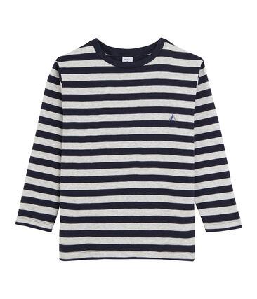 Boys' Long-Sleeved T-shirt Smoking blue / Beluga grey