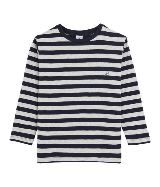 Boys' Long-Sleeved T-shirt Smoking blue / Beluga grey