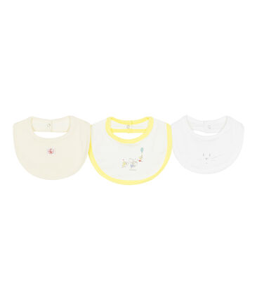 Surprise pack of 3 bibs for baby girls