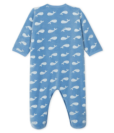 Baby boys' velour sleepsuit