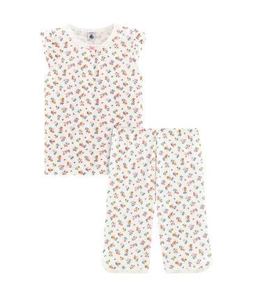 Girls' short Pyjamas Marshmallow white / Multico white