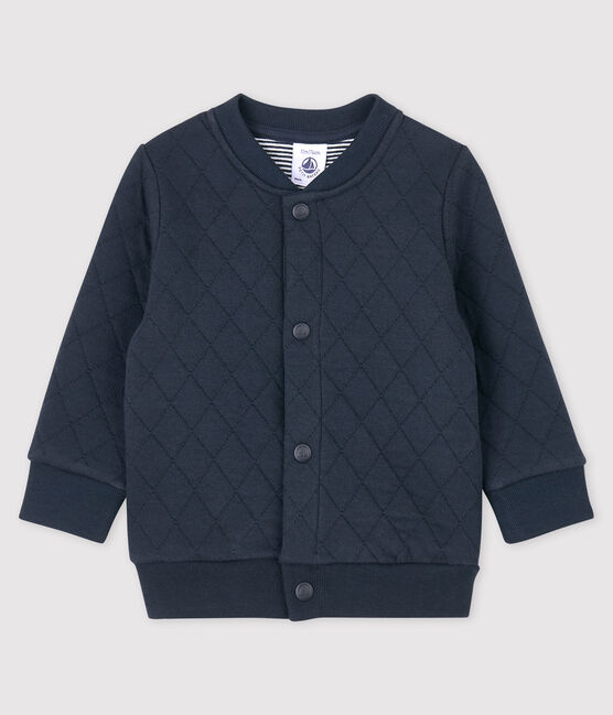 Baby boy's tubular knit cardigan Smoking blue