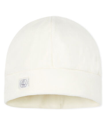 Newborn Babies' Rib Knit Bonnet Marshmallow white