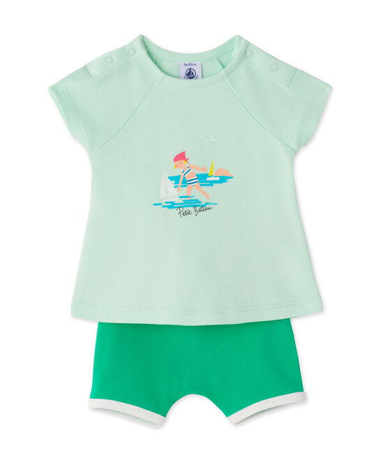 Baby girls' shorts and tee set Amandelium green / Flag green