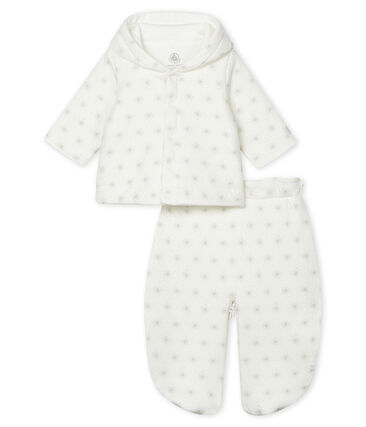 Unisex Baby 3-in-1 Snowsuit Marshmallow white / Perlin beige