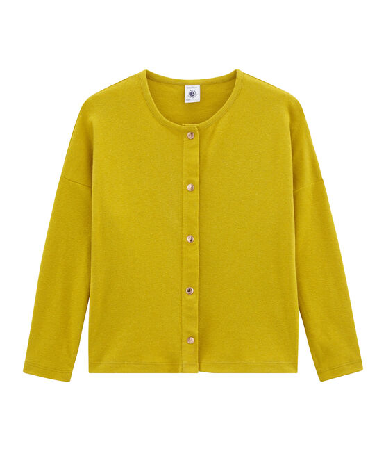 Girls' Cardigan Bamboo yellow