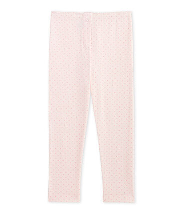 Girl's long johns in wool and cotton Vienne pink / Gretel pink