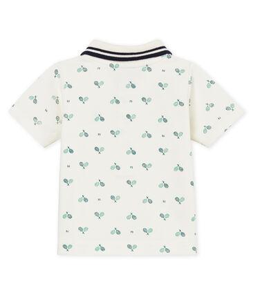 Baby boys' printed piqué polo shirt