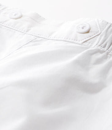 Baby Boys' Special Occasion Trousers In Plain Poplin Ecume white