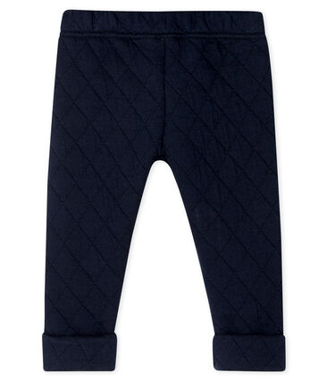 Baby Boys' Tube Knit Quilted Trousers Smoking blue